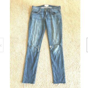 Current Elliott The Rolled Skinny Blue Jeans  23